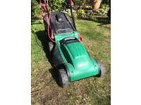 Qualcast 1200w lawnmower - with brand new rotary blade