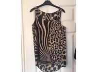 Silky leopard print vest top size 12