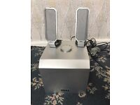 Dell external speakers and subwoofer system (Zylux A525 Silver/Black) cables included