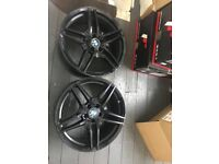 "Pair of BMW Replica 19"" wheels - Black"