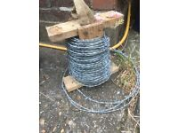 SINGLE FENCE POST/BARBED WIRE/FENCE WIRE IDEAL GARDEN/ALLOTMENT ETC