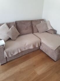 SCS chaise sofa bed with storage and single chair (2 yeara old)