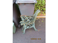 Cast iron(?) bench seat ends £45 Tel 07564918063 after 6pm