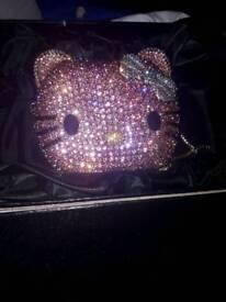 Hello kitty diamontie clutch bag