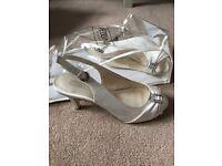 Wedding bridal shoes size 3