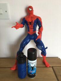 Spider man figure with web spray