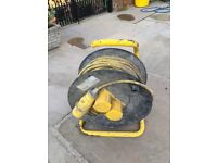 Contractors 50m elec cable 110v supply and carrying drum