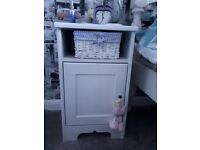 Lovely pair of white IKEA bedside tables cabinets