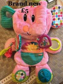 Playschool pink elephant playmat and portable PlayStation
