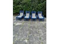 Sun loungers with cushions
