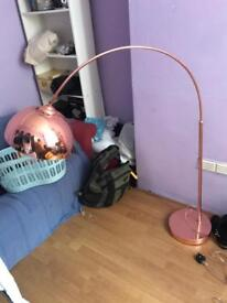 Adjusting Copper Floor Lamp