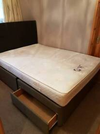 Double bed with mattress and base