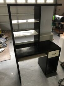 Black & white computer desk for sale