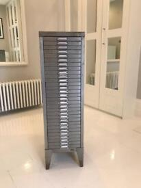 Office unit in brushed steel, old but perfect working order,conditionand very useful