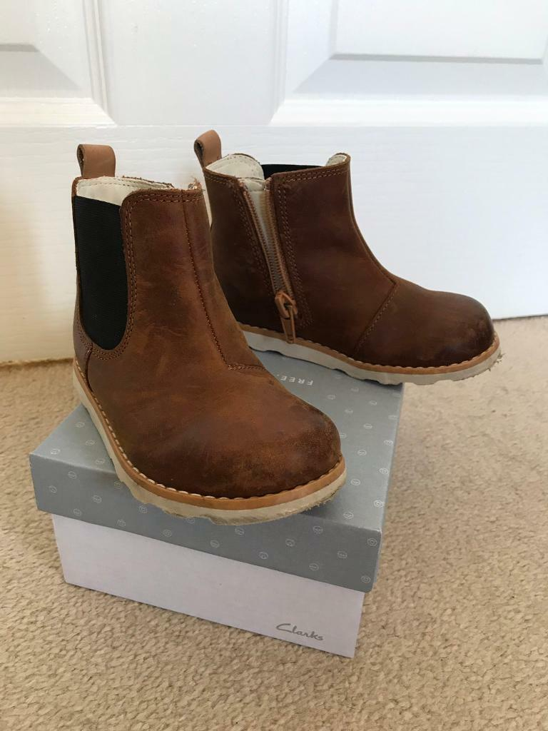 0fc25cc65141b Clarks Crown Halo Toddler Boots, Tan, Size 6F   in Cambridge ...