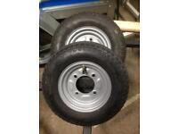 2 Brand new trailer wheels and tyres