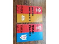 Vintage 1960's Wales Rugby programmes