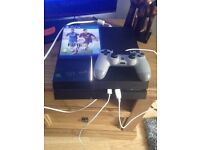 PS4 with 2 games and special remote