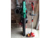 Garden vac leaf blower and slab joint cleaner