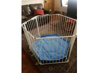 Lindam playpen (can also be used as room divider or fire guard)