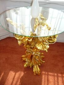 Glass Table stand shape of a bouquette of roses was £350