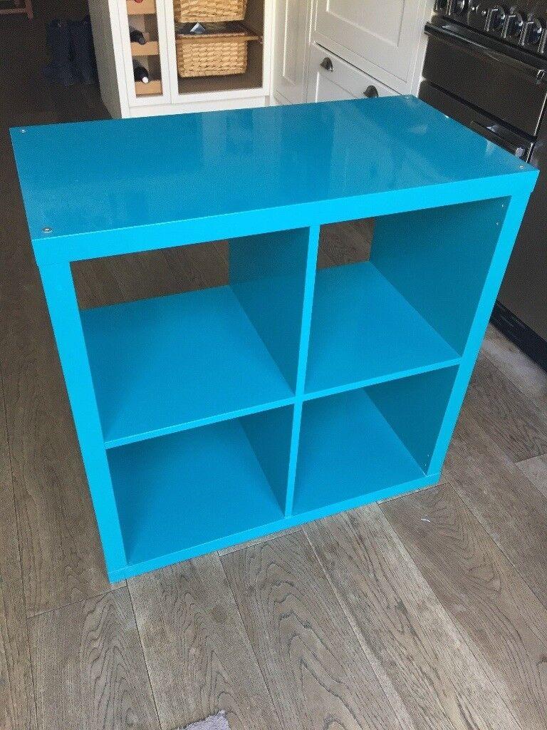 cheaper d4842 705d3 Ikea Kallax Storage Unit in High Gloss Turquoise 2 x 2 block | in  Wimbledon, London | Gumtree