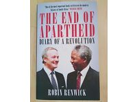 """The End of Apartheid: Diary of a Revolution"" by Robin Renwick [brand new, hardcover]"