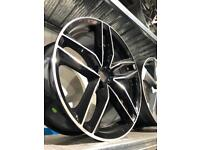 "4 18"" alloy wheels alloys rims tyres to fit vw Volkswagen seat Skoda Audi a3"