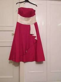Monsoon red and cream size 12 party dress