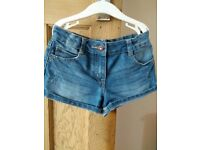 Girls Denim Shorts Age 7-8 years