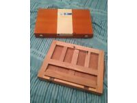 Mini travel easel and watercolour set