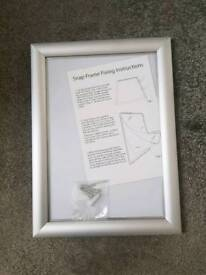 NEW A4 Aluminium Snap frame for wall display, posters