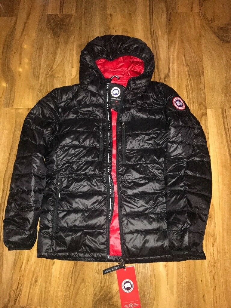 on feet images of shop exquisite design Canada goose bubble jacket in black - size large | in Great Sutton ...