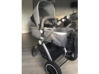 Isafe pram with changing bag and rain cover
