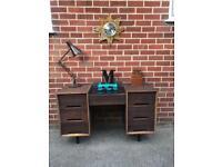 Vintage STAG Sideboard Desk Walnut Teak C RANGE Mid Century RETRO
