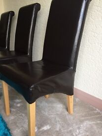4 Brown Dining Chairs (comfortable and in excellent condition). May sell individually also.