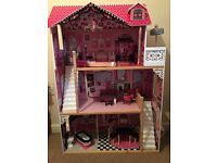 KidKraft Amelia Dolls House - Fully Assembled with Furniture - Collect from NR8 5