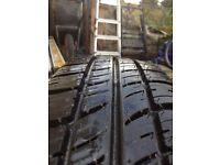 Unused tyre 175/70/14 on steel Berlingo wheel