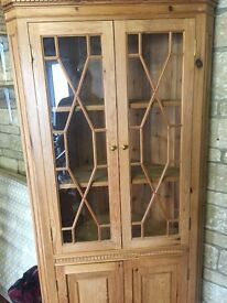 Good condition pine corner unit