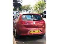 SEAT LEON, RED, 2007 plate