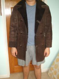 Real Baily's sheepskin jacket in dark chocolate brown.