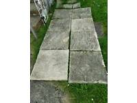 Various size paving slabs