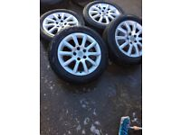 Genuine Vauxhall Astra H set of alloy wheels and tyres 2004-2011