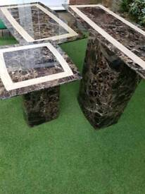 SCS Marble Tables. Set of 3!!