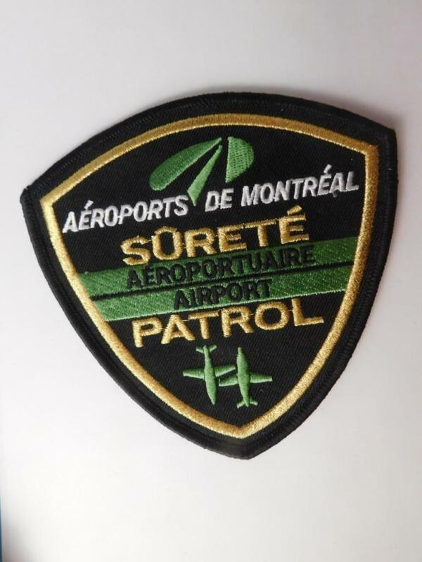 MONTREAL AIRPORT SECURITY PATROL VINTAGE PATCH BADGE QUEBEC CANADA POLICE