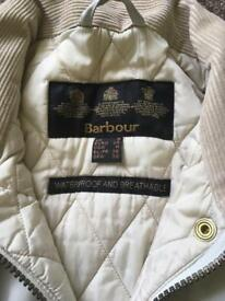 Cream Barbour size 8
