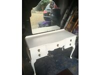 Retro dressing Table, upcycled painted white but may still be a project for a DIY upcycler