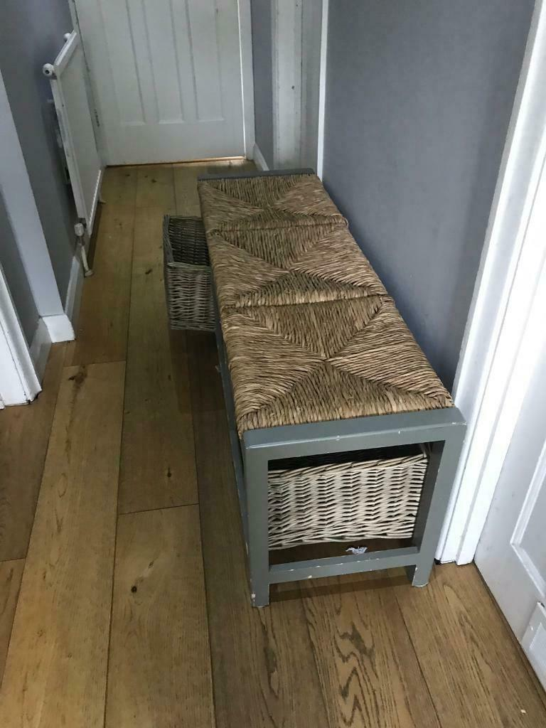 Wondrous Hallway Storage Bench Hall Wicker Basket Shoe Country Unit Three Drawer Wooden Seat In Oxford Oxfordshire Gumtree Onthecornerstone Fun Painted Chair Ideas Images Onthecornerstoneorg