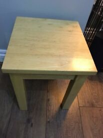 small solid wooden side table