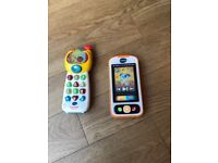 VTech Baby's 1st Smartphone plus 2nd toy phone free